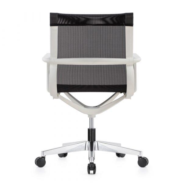 Kenetic White Frame Black Mesh Chair