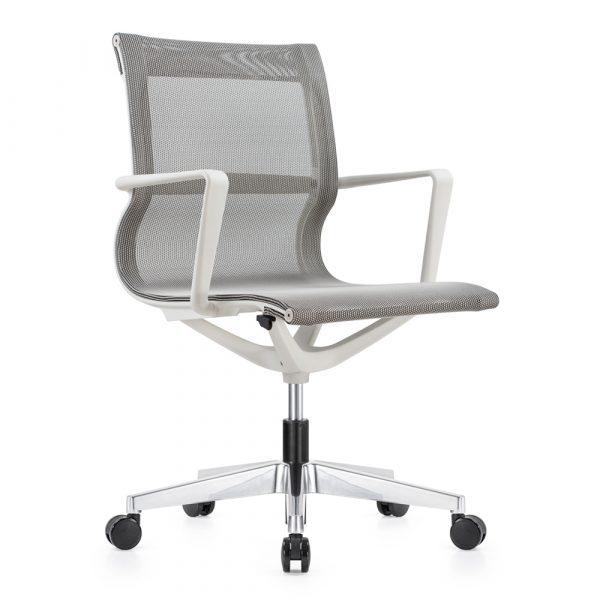 Kenetic White Frame White Mesh Chair