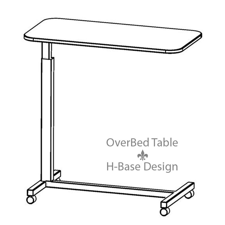 Adjustable Height OverBed Table H Base