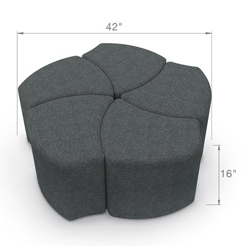 Balt Economy Shapes Modular Lounge Seat Group 910-5-001