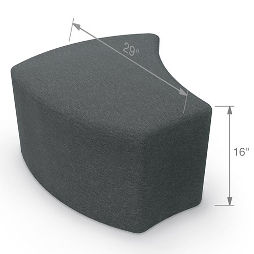 Balt Shapes Upholstered Stool Dimensions