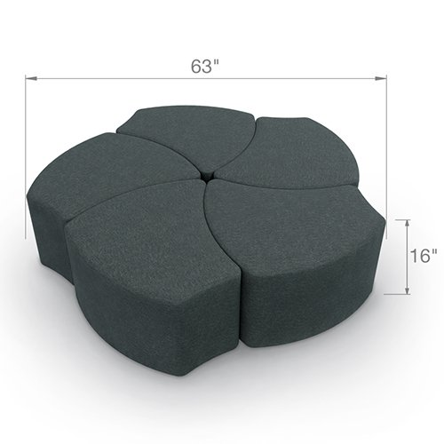 Balt Shapes Upholstered Stool Group
