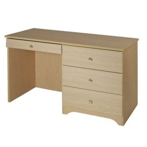 Baltic Patient Room Desk Chest Combo Maple