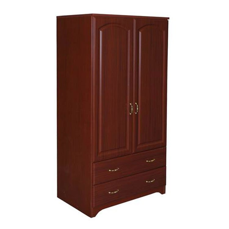 Baltic Patient Room Wardrobe 2 Door 2 Drawer Cherry