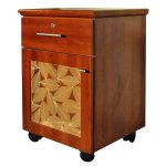 Bedside Tables Executive Cherry Leaves Design