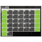 Black Glass Dry Erase Monthly Calendar
