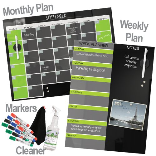 Magnetic Glass Monthly Planner Markerboards & Accessories