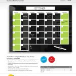 Magnetic Glass Monthly Planner Markerboard Brochure