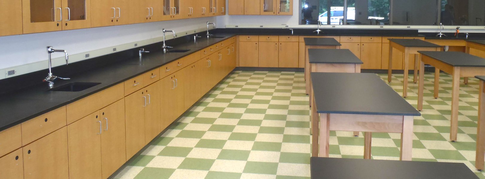 CFC Educational Science Lab includes Science Tables, Science Cabinets and Chemical Resistant Counter Tops