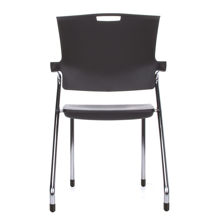 Smart Series Stacking Chairs Black Chrome Back 304-P