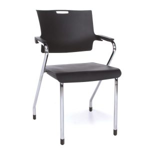 Smart Series Stacking Chairs Black Chrome 304-P