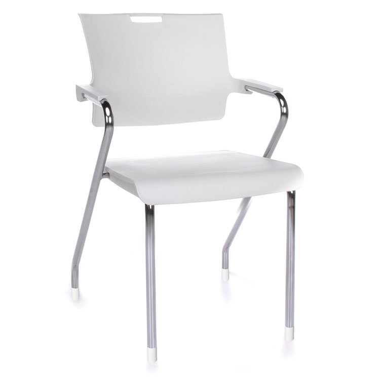 Smart Series Stacking Chairs White Chrome 304-P
