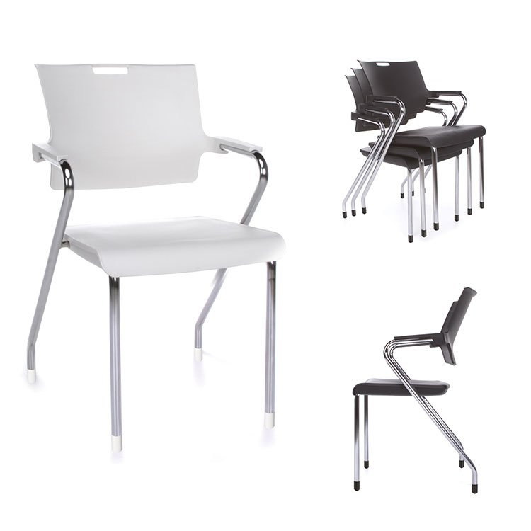 Smart Series Stacking Chairs Chrome 304-P Feature