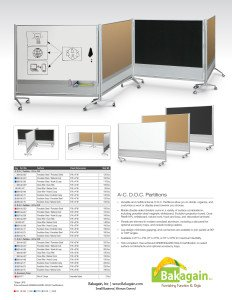 DOC Mobile Room Partition & Display Panel Brochure - Reversible Boards / Combo | MooreCo - Balt - Best-Rite