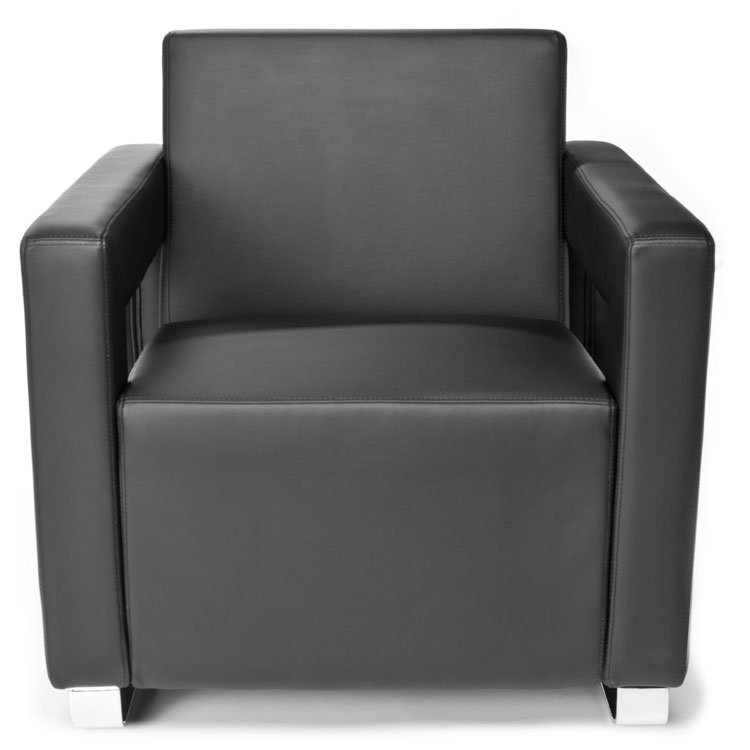 Distinct Series Lounge Seating Chair 831 Black Front