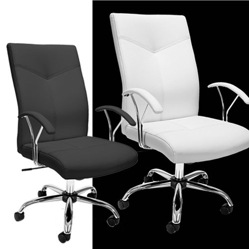 E1003 OFM Executive Conference Seating, In stock greenguard certified, gas lift & 250 lb weight capacity, black & white PVC free polyurethane