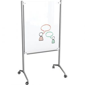 Balt Compact and lightweight Enlighten Mobile Glass Dry Erase Whiteboard