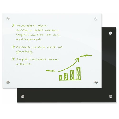 Enlighten Glass Dry Erase Markerboards White, Black