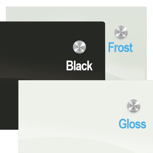 Enlighten Glass Dry Erase Markerboards Black, Gloss or Frost