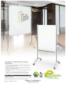 Enlighten Mobile Glass Dry Erase Board brochure