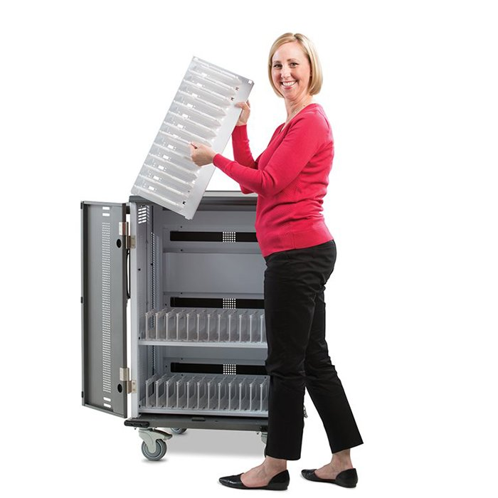 YES36 Chromebook Cart YESMOR2GMPW with Adjustable Shelves