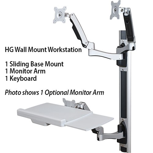 HG Wall Mount Workstation Opt 2nd Arm