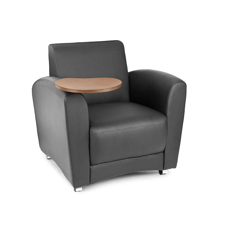 Interplay Series Lounge Chair with Tablet Arm Black 821