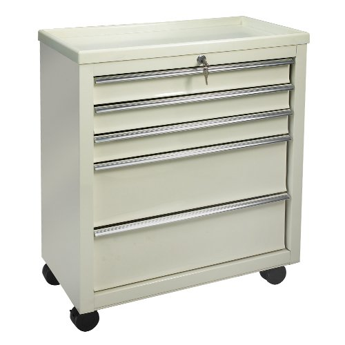 Medical Bedside Carts - 5 Drawer Beige BV05
