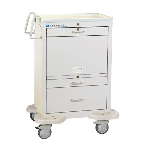 3 Drawer Medication Cart Closed