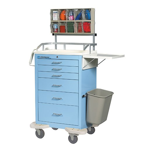 6 Drawer Anesthesia Cart with Accessory B
