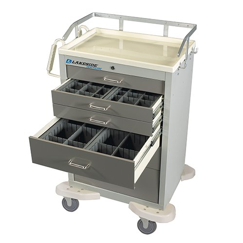 6 Drawer Anesthesia Cart with Accessory C