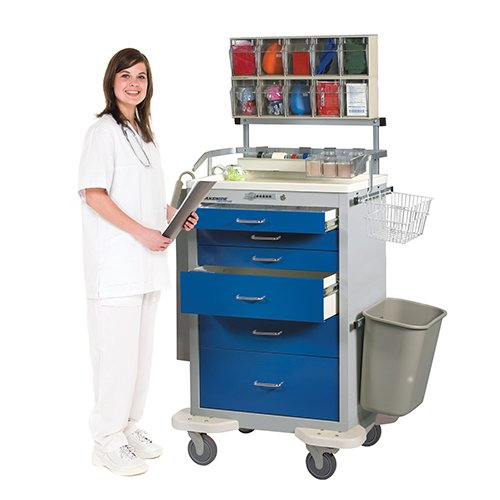 6 Drawer Anesthesia Cart with Accessory A