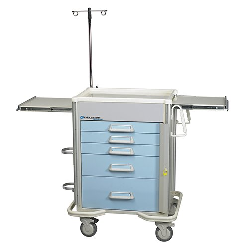 5 Drawer Emergency Cart P-524-B-2SB PEP-C