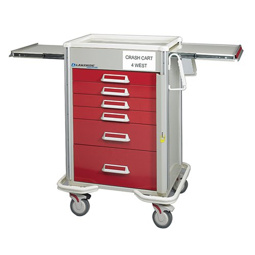 6 Drawer Emergency Cart P-627-B-2R