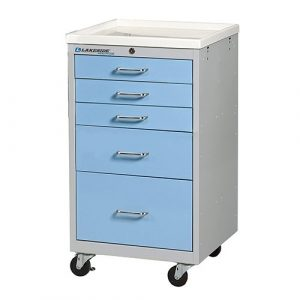 5 Drawer Mini Medical Carts - SM-524-K-2SB