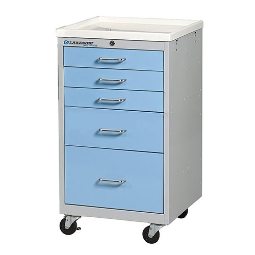 5 Drawer Mini Medical Carts – SM-524-K-2SB
