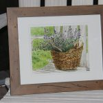 Lavender in Basket Watercolor for Katie Oppo Research Fund