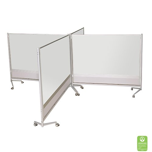 Mobile Freestanding Whiteboard Partitions
