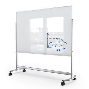 Mobile Magnetic Glassboard Visionary 74951