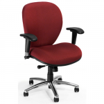 OFM 648 Ergonomic Task Chair Burgundy