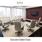 ORO300 Executive Conference Chairs Tablet Arm