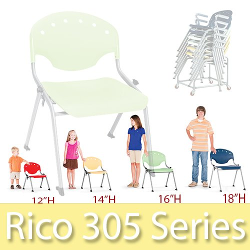 OFM Rico Stack Chairs 4 sizes