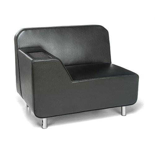 OFM Serenity Series Lounge Seating Left Black 5000L