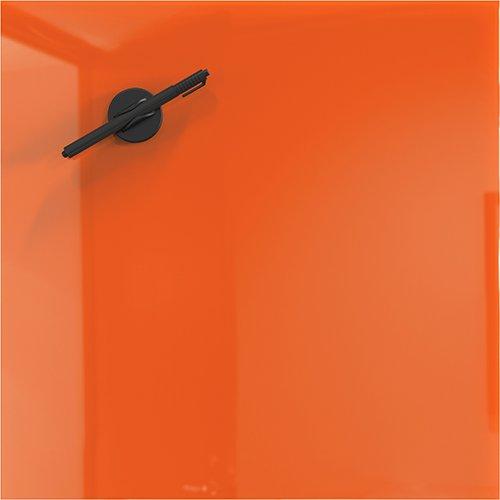 Orange Magnetic Glass Markerboard