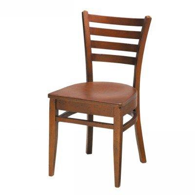 Wood Melissa Side Chair Horizontal Slat