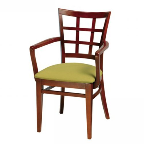 Wood Melissa Arm Chair Square Back