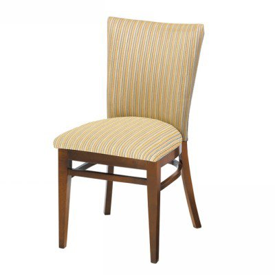 Wood Melissa Side Chair Upholstered
