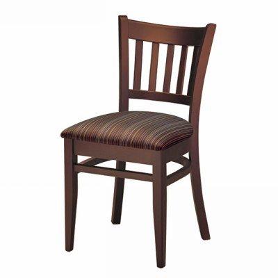 Wood Melissa Side Chair Vertical Wood Slat