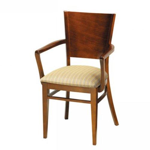 Wood Melissa Arm Chair Wood Back