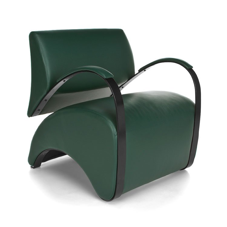 Recoil Lounge Chair 841 Green AntiMicrobial
